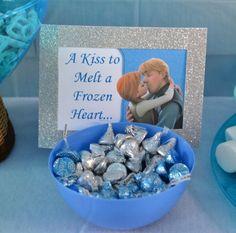 A Kiss to melt a frozen heart idea food birthday