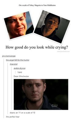 Lol <<<<< who the fuck are you and why is deans pain funny to you?! <<<< high five random actual HUMAN with CARE and COMPASSION