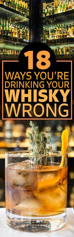 This Is How You Should Actually Be Drinking Whisky (liquor drinks alcohol) Whiskey Girl, Cigars And Whiskey, Scotch Whiskey, Irish Whiskey, Bourbon Liquor, Whiskey Cocktails, Cocktail Drinks, Bourbon Drinks, Bar Drinks
