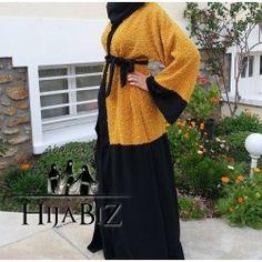 Abaya Jenah Fashion Top, Abaya Fashion, I Love Fashion, Abaya Designs, Mode Abaya, Mode Hijab, Mode Kimono, Arabic Dress, Abaya Style