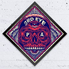 3rd Eye - Tom Newell Piece created for the Artist Beer Visions (ABV) exhibition presented by 3rd Rail. 20 illustrators and designers were invited to create a label for a fictitious beer of their invention. These works were displayed as large format screen prints at 71A Gallery where you could buy a beer brewed especially for the show by Peoples Park Tavern.