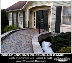 Cool Wheelchair Ramp! Get Inspired And Do Cool Stuff! Www.WheelchairGear.com