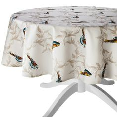 "Threshold™ Birds Round Tablecloth - Tan (70"")"