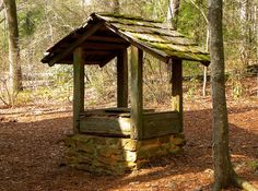 log cabin water well - Google Search