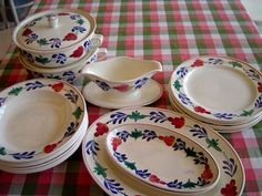 Boerenbont.....Very Dutch styled dishes.  I have a lot of this tableware.