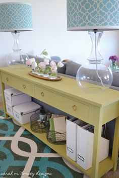 Sofa Table DIY (how to actually cut out and construct this table!) needs this for back entry