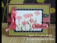▶ Mother's Day Card Series - Card #5 - YouTube watercolor markers or distress markers used to ink stamp