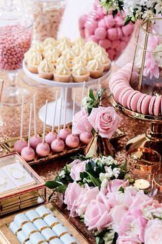 Sweets + Decor from a Copper, Pink & Gold Princess Party via Kara's Party Ideas . - Candy Bar / Dessert Tables Sweets + Decor from a Copper, Pink & Gold Princess Party via Kara's Party Ideas . Sweet 16 Birthday, 21st Birthday, Birthday Parties, Cake Birthday, Sixteenth Birthday, Themed Parties, Princess Birthday, Spring Birthday Party Ideas, Pink Princess Party