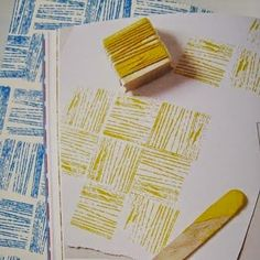 print & pattern: BOOK - print workshop [love the ideas for the yarn stamp pattern or the brick stamp] Fun Crafts, Diy And Crafts, Crafts For Kids, Arts And Crafts, Paper Crafts, Diy Projects To Try, Craft Projects, Craft Ideas, Project Ideas