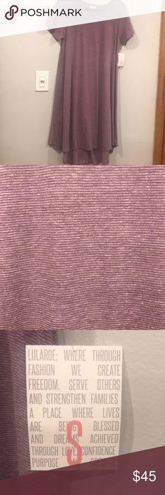 Lularoe Carly dress S Purple with tiny purple stripes LuLaRoe Dresses