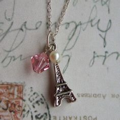 Full of love light rose necklace by CharlysGems on Etsy, £10.00 plus p&p