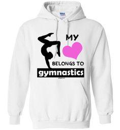 Golly Girls: My Heart Belongs to Gymnastics Gildan Heavy Blend Hoodie