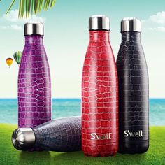 Crocodile Design Water Bottle - Stainless Steel with Insulation (4 colors)