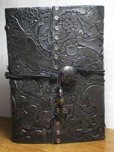 Keepsake Crafts | Faux Leather Sketchbook – Part 1, Making The Cover | http://keepsakecrafts.net/blog