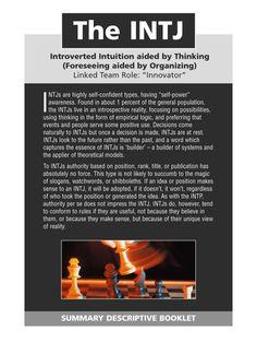 intj summary  25057 Myers Briggs   INTJ