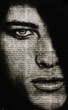 Draw Charcoal Art in the news charcoal drawing on newspaper, michael cross art - Art In The News 7 by Michael Cross Charcoal Paint, Charcoal Sketch, Charcoal Drawings, Charcoal Drawing Tutorial, Newspaper Art, Charcoal Portraits, Cross Art, Arte Pop, Art Drawings
