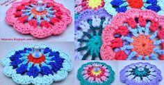 Um blog de crochet em fio de malha, trapilhos Crochet Hair Accessories, Crochet Hair Styles, Crochet Coaster Pattern, Crochet Patterns, Crochet Potholders, Crochet Flowers, Crochet Necklace, Coasters, Cross Stitch