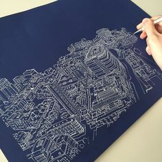#art #drawing #pen #sketch #illustration #linedrawing #london #city #cityscape #aerialview #panorama #architecture #buildings