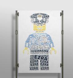 Ah i love this #lego #policeman #wordart!! #wallart #decor #interior #kidsroom #kidsdecor #creative #wordart #print #poster #handmade #printshop