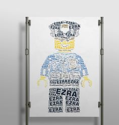 Ah i love this #lego #policeman #wordart!! #wallart #decor #interior #kidsroom #kidsdecor #creative #wordart #print #poster #handmade #printshop