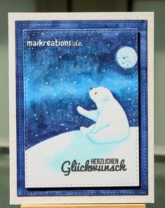 maikreations: Polar Bear at night time / Eisbär bei Nacht