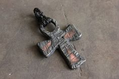 Gothic OOAK Blackened Hammered Pewter and Bronze Ankh Cross by EtinifniCreations, $40.00 #etsy @etsy #OOAK