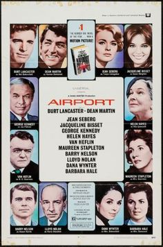 Airport Authentic Original Movie Poster: U. One Sheet This listing is guaranteed for Airport as an original movie poster issued either directly from the film studio or an authorized distributor. Size: 41 in x 27 in Current State: Folded Condition: Good. Dean Martin, Martin Movie, Classic Movie Posters, Original Movie Posters, Classic Films, Jean Seberg, Top Movies, Great Movies, Scary Movies