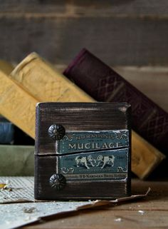 Wooden brick for holding books