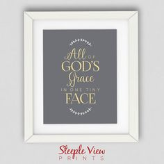 All of God's Grace in One Tiny Face Art Print by SteepleViewPrints