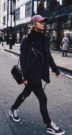 street style. shearling coat.