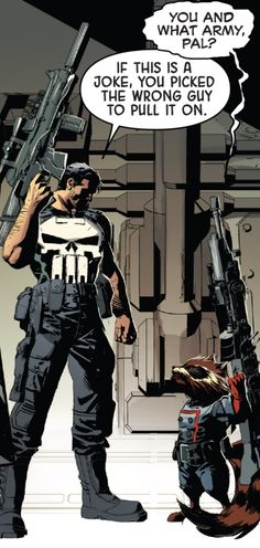 Punisher & Rocket Raccoon by Mike Deodato Jr.