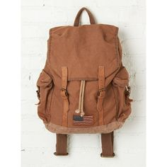 Free People Barbour Steve McQueen Collection Backpack ($349) ❤ liked on Polyvore