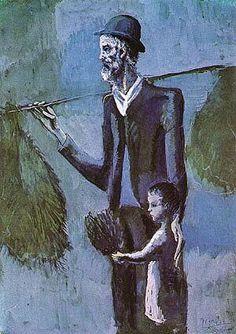 Pablo Picasso「Vendeur du Gul(The Mistletoe Seller)」(c.1902)