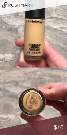 MAC pro long wear foundation NC15 50% full. MAC pro long wear foundation NC15 MAC Cosmetics Makeup Foundation