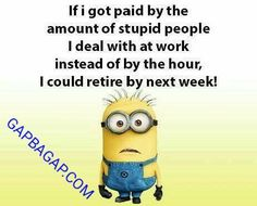 Funny Minion Meme About Work