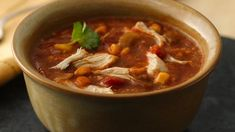 Come home to this slow-cooked chicken tortilla soup made using Old El Paso® enchilada sauce and vegetables.