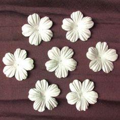 Valkoiset kukat (1.50e /20kpl sinisiipi.fi) muutkin värit ehdottomasti :)