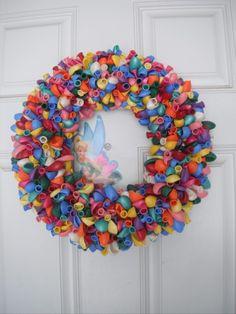 our birthday wreath