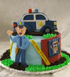 Policeman Cake Design : 1000+ images about police birthday party on Pinterest ...