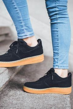 nike air force 1 black suede gum - Google Search
