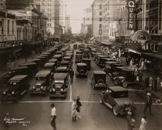 "natgeofound: "" Evening rush hour in Houston, Texas.Photograph by Clifton R. Old Pictures, Old Photos, National Geographic Archives, 1920s Photos, Vintage Photos, Vintage Pins, H Town, Texas History, Texas Travel"