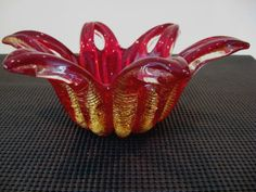 Barovier-Toso-Cordonato-Oro-Blooming-Flower-Murano-Bowl