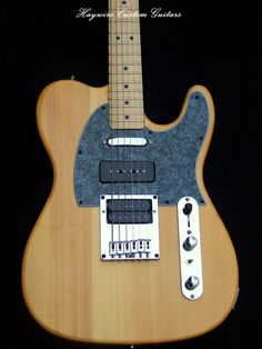 Haywire Custom Shop USA Telecaster with P-90 in the middle and a DiMarzio DP-100 in the bridge with a coil split switch between the Volume and Tone controls. This guitar SCREAMS! www.haywirecustomguitars.com