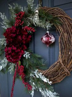 Christmas Wreaths - Holiday Wreath - Winter Wreath - Holiday Decorations - Wreaths for Door - Etsy Wreaths - Wreath - Wreaths by HomeHearthGarden on Etsy Noel Christmas, Winter Christmas, All Things Christmas, Christmas Ornaments, Etsy Christmas, Elegant Christmas, Christmas Movies, Etsy Wreaths, Holiday Wreaths