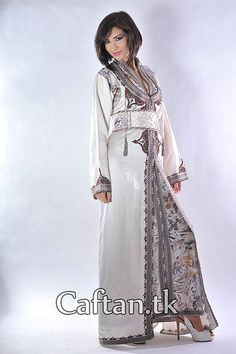 Caftan blanche très chic | Flickr - Photo Sharing!