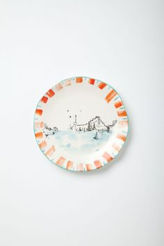 Ponza Town Canape Plate - Anthropologie.com