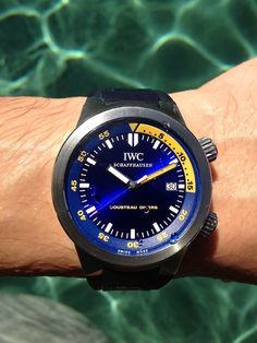 IWC Cousteau Diver's Aquatimer. The limited edition