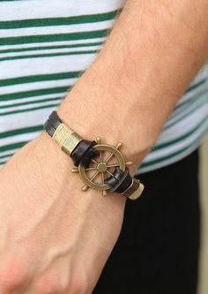 Vintage Rudder Charm Bracelet - Etc - Accessories