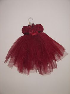 My Creations-tutu dresses, possible Christmas or flower girl dress and so simple to make!