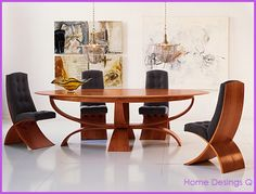 WOODEN DINING TABLE CHAIR DESIGN